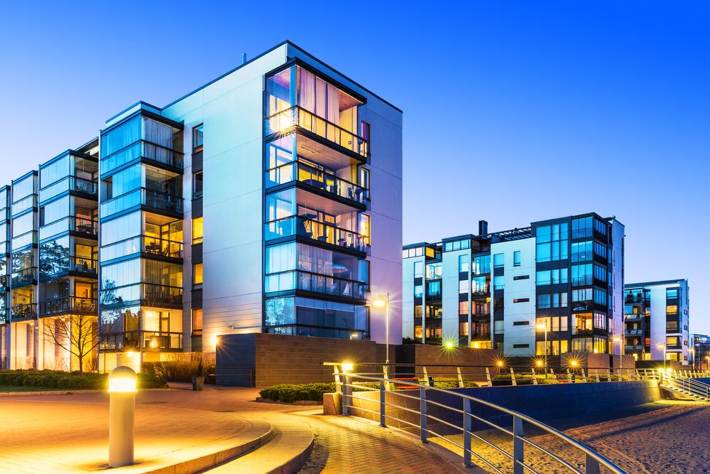 魅力的なマンション・都心のマンション群・高級マンション