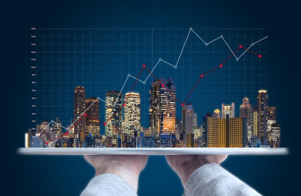 不動産投資のメリット 不動産の値上がりグラフ