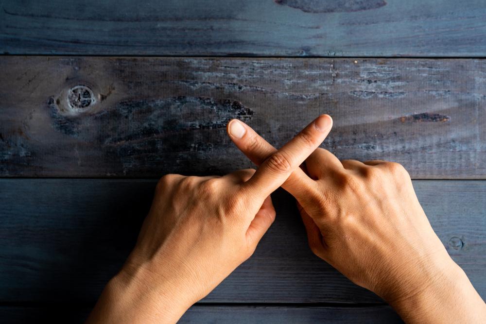 指でバツ バッテン